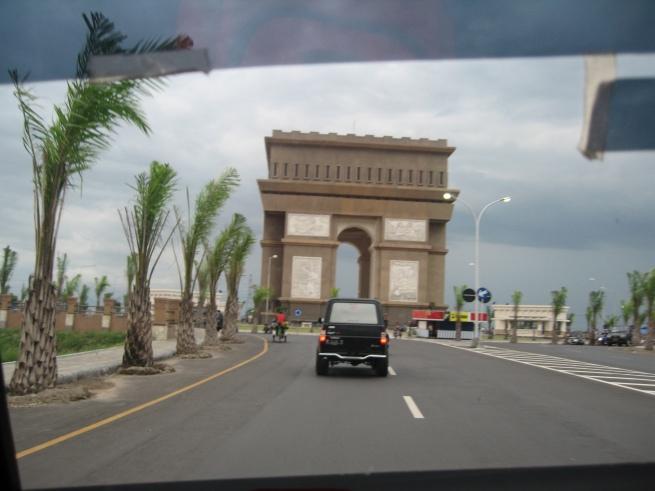 Satu gerbang besar di sudut kota Kediri