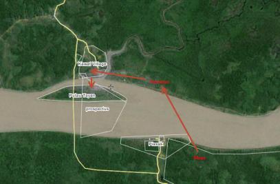 Peta Menuju Pulau Tayan