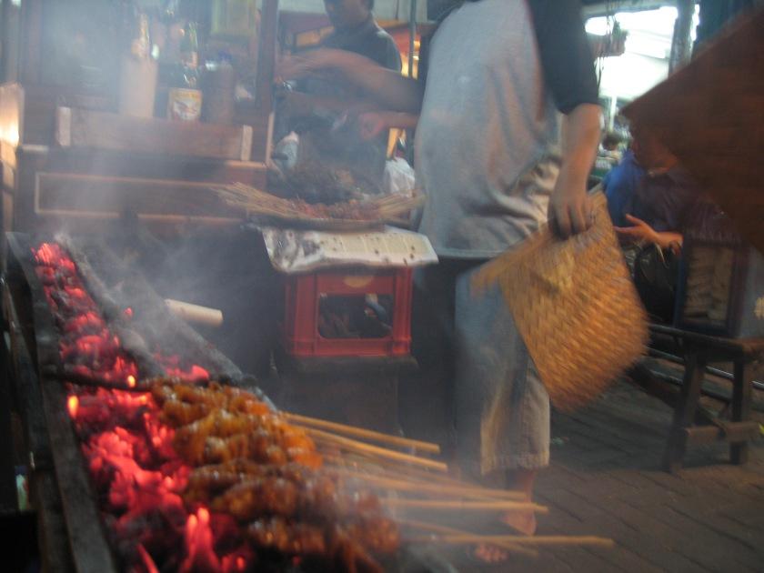 Penjual Sate di Jalan Sabang